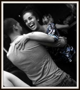 My friends Steph and Nate who are natural born salsa dancers