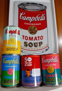 warhol cans and original art