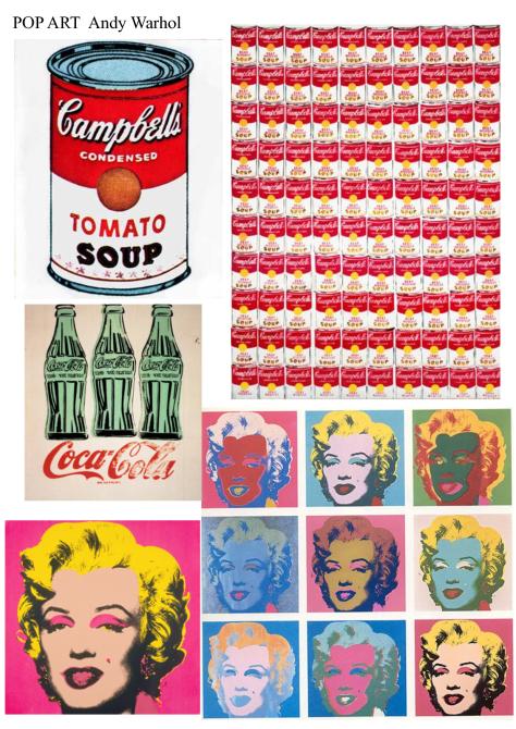 popular pieces by Warhol